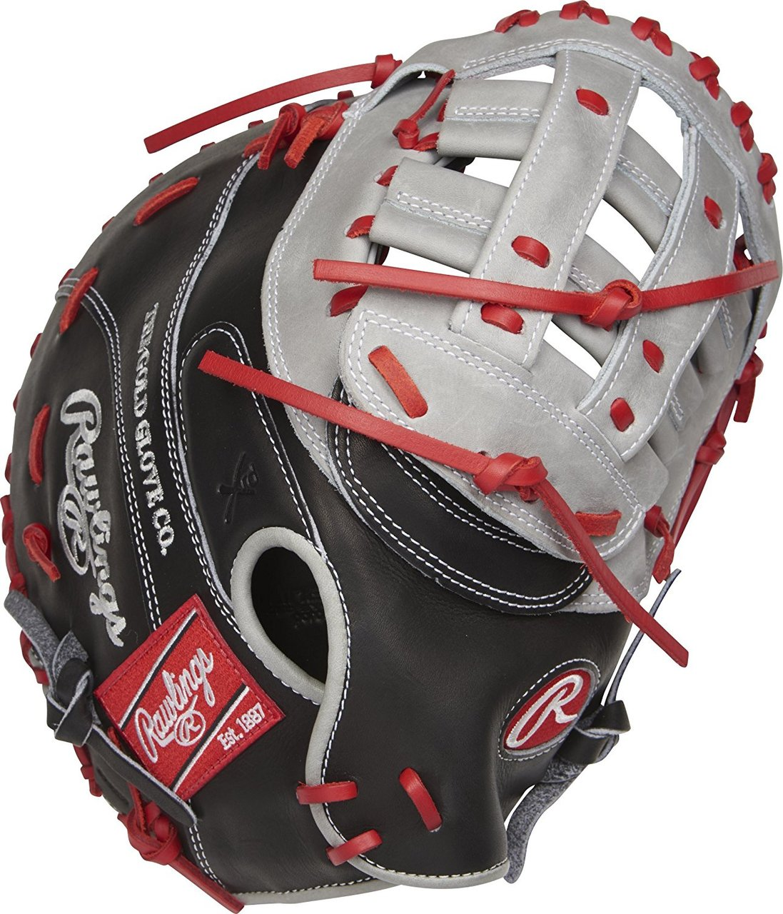 rawlings-heart-of-the-hide-salesman-sample-first-base-mitt-profm20bgs-right-hand-throw PROFM20BGS-NOTAGS-RightHandThrow   Constructed from Rawlings world-renowned Heart of the Hide steer leather Heart