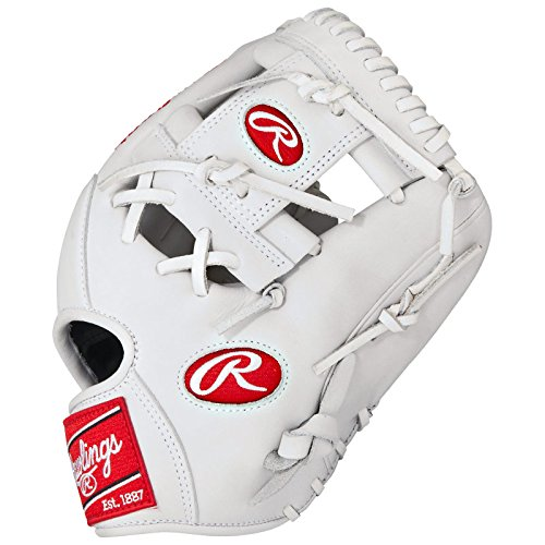 Rawlings Heart of the Hide White Baseball Glove 11.5 inch PRO202WW (Right-Handed-Throw) : Infused with contemporary, eye-catching color combinations, the Heart of the Hide Custom Color baseball gloves add a new twist to a classic series. They contain all of the advanced features that youve come to associate with Heart of the Hide gloves from their premium steer hide leather to their authentic pro patterns. Now for a limited-time only, athletes can choose a glove that matches their own unique style and performance preferences with the new Heart of the Hide Custom Color series.