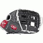 rawlings heritage pro hpw303dsbfs baseball glove gray 12 75 right hand throw
