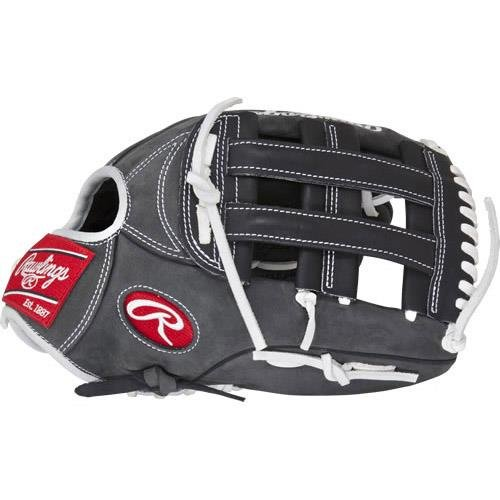 rawlings-heritage-pro-hpw303dsbfs-baseball-glove-gray-12-75-right-hand-throw HPW303DSBFS-RightHandThrow Rawlings 083321195204 Heritage Pro Series gloves combine pro patterns with moldable padding providing