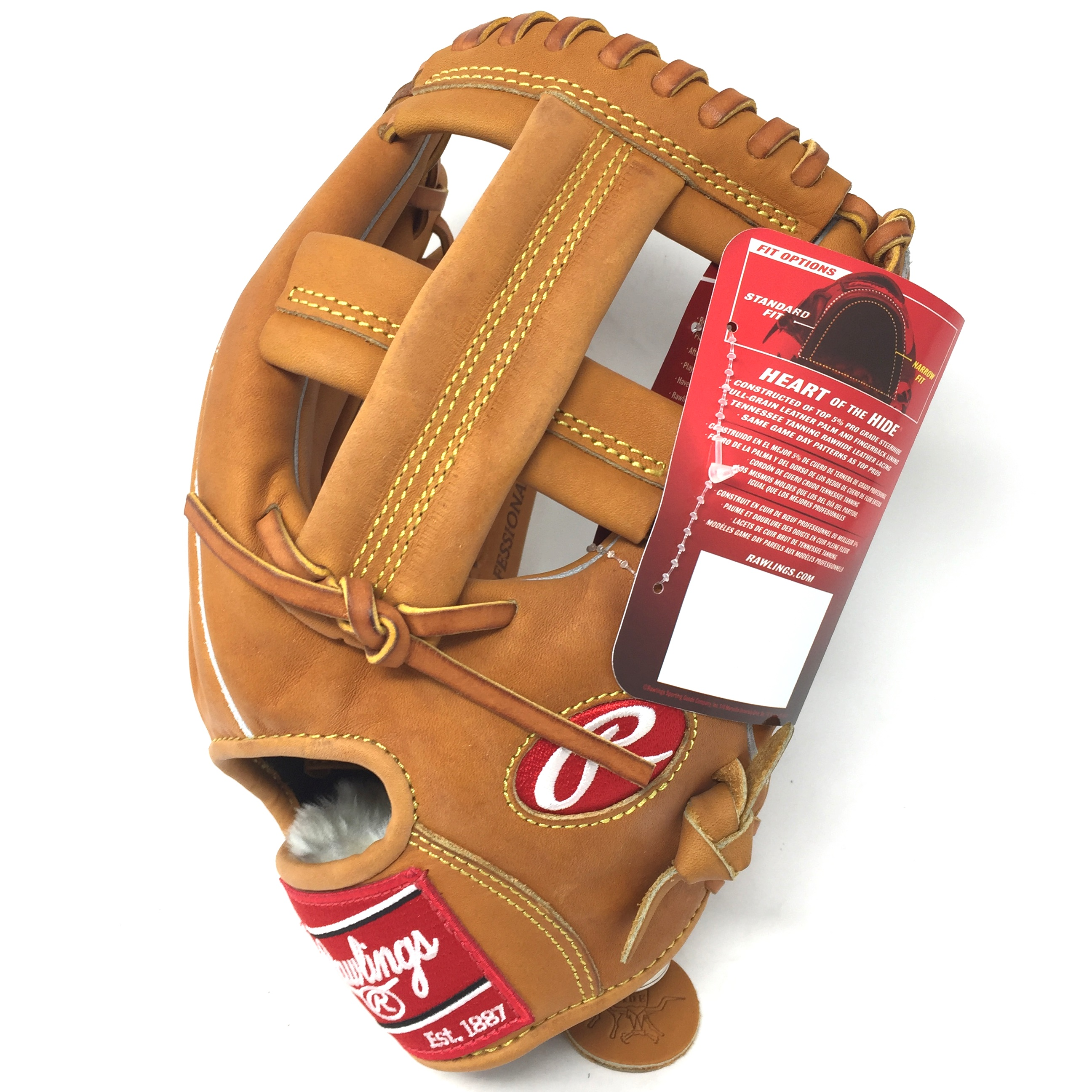 rawlings-hoh-prospt-baseball-glove-horween-leather-11-75-right-hand-throw PROSPT-18-RightHandThrow Rawlings  The Rawlings PROSPT Heart of the Hide Baseball Glove is 11.75