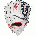 The perfectly-balanced patterns of the updated Liberty® Advanced Series are designed for the hand size of the female athlete to provide an improved level of control and comfort. Constructed with a hand opening and finger back adjustments to accommodate the fast pitch player Rawlings is introducing a dynamic new pattern technology to advance the fast pitch game and provide the opportunity for an upgraded level of performance. Details Age: Adult Brand: Rawlings Map: No Sport: Softball Type: Softball Size: 12.5 in Color: White Hand: Right