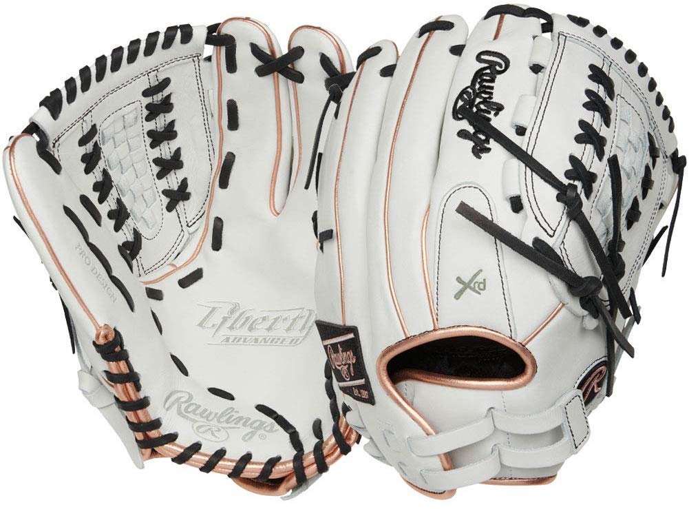 rawlings-liberty-advanced-12-5-softball-glove-right-hand-throw RLA125-18RG-RightHandThrow Rawlings 083321665738 Quality full-grain leather for enhanced durability PoronA XRDa palm padding for