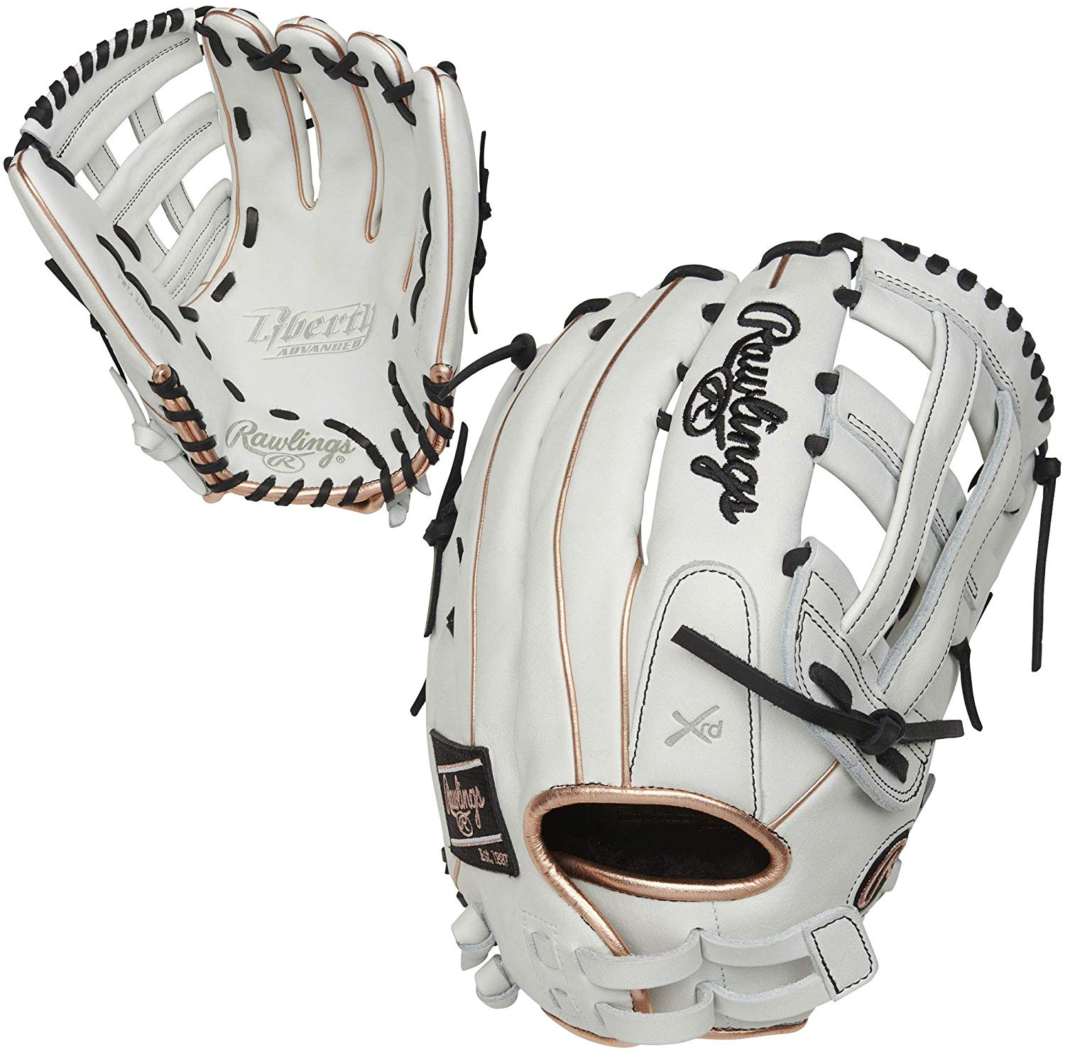 rawlings-liberty-advanced-13-in-softball-glove-glove-right-hand-throw RLA130-6RG-RightHandThrow Rawlings 083321665264 <p>White/Rose Gold/Black Colorway 13 Inch Model H Web Break-In 70% Factory