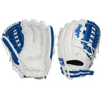 Crafted from the finest full-grain leather, the Liberty Advanced 12.5-Inch fastpitch glove features exceptional quality. In addition, it also offers a soft, game-ready feel for a quick and easy break-in. The combination of its large, 12.5-inch softball-specific pattern and double-laced basket web make it an ideal choice for infielders, pitchers and outfielders alike. The adjustable pull-strap allows for a custom fit. As a result your glove will always feel comfortable on your hand. Furthermore, the Poron XRD padding provides optimal palm protection against even the hardest hit balls. All of this is packed in new, unique colorways for an unmatched look and style on the diamond. Take your game to the next level; shop now! ul li class=attributespan class=labelColor: /span span class=value White/Royal /span/li li class=attributespan class=labelThrowing Hand: /span span class=value Right /span/li li class=attributespan class=labelSport: /span span class=value Softball /span/li li class=attributespan class=labelBack: /span span class=value Adjustable Pull Strap /span/li li class=attributespan class=labelPlayer Break-In: /span span class=value 30 /span/li li class=attributespan class=labelFit: /span span class=value Standard /span/li li class=attributespan class=labelLevel: /span span class=value Adult /span/li li class=attributespan class=labelPadding: /span span class=value PORON XRD Palm Pad /span/li li class=attributespan class=labelSeries: /span span class=value Liberty Advanced /span/li li class=attributespan class=labelShell: /span span class=value Full Grain Leather /span/li li class=attributespan class=labelWeb: /span span class=value Basket /span/li li class=attributespan class=labelSize: /span span class=value 12.5 in /span/li li class=attributespan class=labelCollection: /span span class=value Color Series /span/li li class=attributespan class=labelPattern: /span span class=value 125SB /span/li li class=attributespan class=labelAge Group: /span span class=value Pro/College, High School, 14U /span/li /ul
