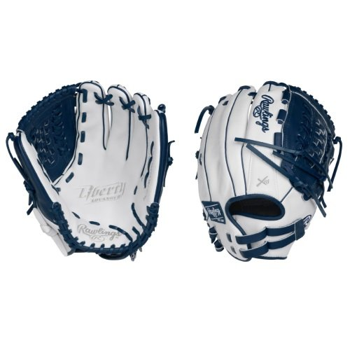 rawlings-liberty-advanced-rla125-18wn-fastpitch-softball-glove-12-5-right-hand-throw RLA125-18WN-RightHandThrow  083321436161 Limited Edition Color Series - White/Navy Colorway 12.5 Inch Womens Model