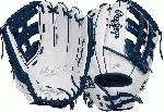 Limited Edition Color Series - White/Navy Colorway 13 Inch Slowpitch Model H Web Break-In: 80% Factory / 20% Player Custom Fit, Adjustable, Non-Slip Pull Strap Back