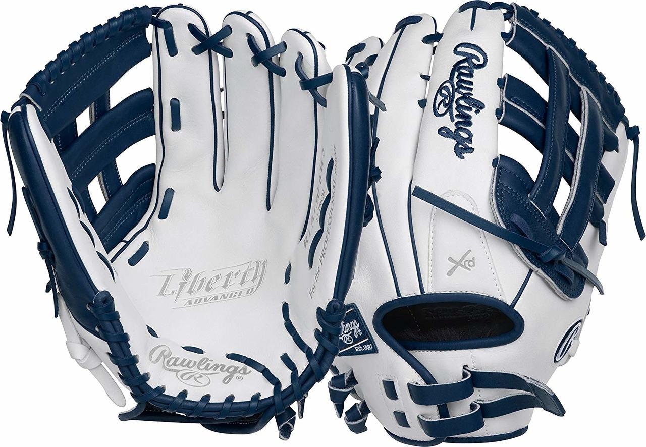 rawlings-liberty-advanced-rla130-6wn-softball-glove-13-right-hand-throw RLA130-6WN-RightHandThrow Rawlings 083321438790 Limited Edition Color Series - White/Navy Colorway 13 Inch Slowpitch Model