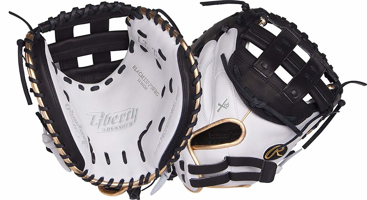rawlings-liberty-advanced-rlacm33fpwbg-fastpitch-softball-catchers-mitt-33-inch-right-hand-throw RLACM33FPWBG-RightHandThrow  083321440083 The perfectly-balanced patterns of the updated Liberty Advanced Series are designed