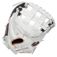 You'll play with confidence behind the plate thanks to the 2021 Liberty Advanced 33-inch fastpitch catcher's mitt. It's crafted from high-quality, full-grain leather for unmatched performance and durability. It also features a large pocket designed specifically for fastpitch play. This Liberty Advanced catcher's mitt utilizes soft leather to give you a more game-ready feel and a quick, easy break-in. In addition, its adjustable Pull Strap back allows for a custom fit so you can frame even the toughest pitches on the corner. For added comfort, the Poron XRD palm padding absorbs impact to reduce sting from hard pitches. Finally, the black and rose gold accents add the perfect touch of style to the white base to make you stand out. If you're a catcher who needs a high-quality glove to hold up to the best pitchers, this Liberty Advanced mitt is perfect for you. Make it your next gamer, order now! ul li class=attributespan class=labelColor:/spanspan class=valueWhite/Black/span/li li class=attributespan class=labelThrowing Hand:/spanspan class=valueRight/span/li li class=attributespan class=labelSport:/spanspan class=valueSoftball/span/li li class=attributespan class=labelBack:/spanspan class=valueAdjustable Pull Strap/span/li li class=attributespan class=labelPlayer Break-In:/spanspan class=value30/span/li li class=attributespan class=labelFit:/spanspan class=valuePro/span/li li class=attributespan class=labelLevel:/spanspan class=valueAdult/span/li li class=attributespan class=labelLining:/spanspan class=valueDeer-Tanned Cowhide/span/li li class=attributespan class=labelPadding:/spanspan class=valuePORON XRD Palm Pad/span/li li class=attributespan class=labelSeries:/spanspan class=valueLiberty Advanced/span/li li class=attributespan class=labelShell:/spanspan class=valueFull Grain Leather/span/li li class=attributespan class=labelWeb:/spanspan class=valuePro H/span/li li class=attributespan class=labelSize:/spanspan class=value33 in/span/li li class=attributespan class=