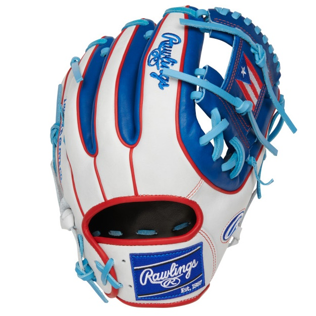 rawlings-olympic-puerto-rico-heart-of-hide-11-5-baseball-glove-right-hand-throw PRO314-2PR-RightHandThrow Rawlings 083321667718 11.5 pattern Constructed from the top 5% of all available hides
