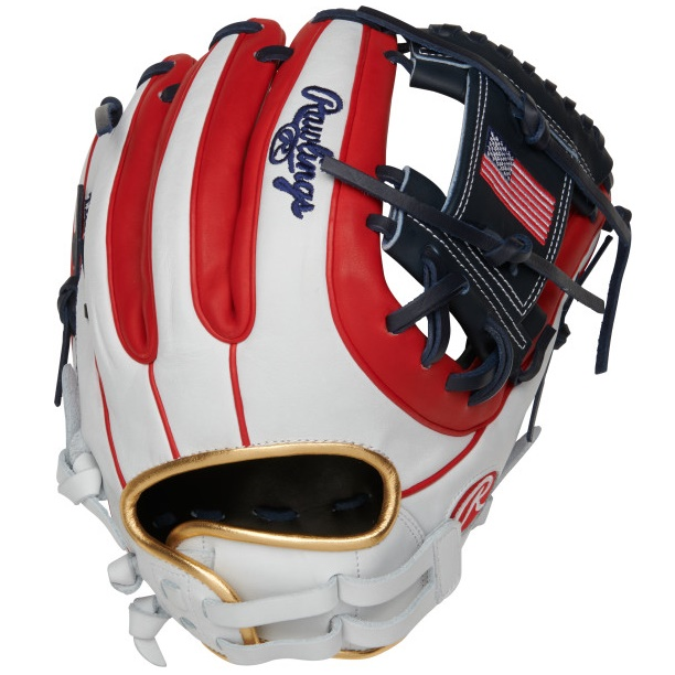 rawlings-olympic-usa-heart-of-hide-softball-glove-12-right-hand-throw PRO716SB-2USA-RightHandThrow Rawlings 083321667725 12 pattern Constructed from the top 5% of all available hides