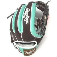 Crafted from flawless, luxurious full-grain kip leather for exceptional performance this limited edition 11.5-inch Rawlings Pro Preferred mint infield glove comes in our popular 31 pattern. As a result it's the perfect fit for infielders who want to stand out from others while playing their best. Our new mint colorway is expertly complimented with mocha accents to give this glove a unique, one-of-a-kind look! In addition, the Pittards sheepskin lining and 100% wool padding offer unmatched comfort. This also allows you to form the perfect pocket. This limited edition masterpiece features a wool wrist strap and padded thumb sleeve for added comfort to give you maximum control in any situation. Age: Adult Sport: Baseball Color: Mint Hand: Right Back: Conventional Player Break-In: 70 Fit: Standard Level: Adult Lining: Pittards Sheep Skin Padding: 100% Wool Blend Pattern: Pro Position: Infield Series: Pro Preferred Shell: Kip Leather Web: Pro I