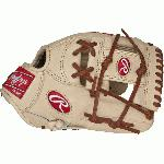 "This Pro Preferred 11 3/4"" baseball gloves from Rawlings features the PRO I Web pattern, which is desired by infielders and positions that require players to use two hands to scoop the ball. Utilizing the best patterns from the best pro players, Pro Preferred™ gloves feature impeccable kip skin leather that breaks in to specific playing preferences, forming the perfect pocket. The high-performance sheepskin lining wicks moisture away, keeping the hand dry for better control when players need it most. Details Age: Adult Brand: Rawlings Map: Yes Sport: Baseball Type: Baseball Size: 11.75 in Color: Camel/Brown Hand: Right Back: Conventional Player Break-In: 70 Fit: Standard Level: Adult Lining: Pittards Sheep Skin Padding: 100% Wool Blend Pattern: Pro Position: Infield Series: Pro Preferred Shell: Kip Leather Type: Baseball Web: Pro I"