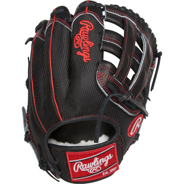 The all new Limited Edition Pro Label baseball glove from Rawlings is individually hand crafted by the top glove craftsmen in the world. Featuring a Pro Preferred camel shell palm, red rolled welting, black kip leather finger tips, 100% wool wrist strap lining and Pittards sheep skin lining, the PROS205-6CM is high-end at its best. Each limited edition model glove is imprinted with a unique ID number. - Limited Edition - Each Glove Has a Unique ID Number - 11.75 Inch Model - Pro H Web - Black Kip Leather Finger Tips - Full Mesh Back - Rolled Red Welting - Black Tennessee Tanning Laces - Hand Sewn Welt - Padded Thumb Sleeve - Pittards Sheepskin Lining - 100% Wool Wrist Strap Lining - Pro Preferred Camel Shell Palm - Red Palm Stamp