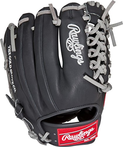 rawlings-pro204dc-4bg-hoh-dual-core-baseball-glove-black-right-hand-throw PRO204DC-4BG-RightHandThrow Rawlings 083321179150 Heart of the Hide Dual Core fielders gloves are designed with