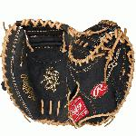 Rawlings PROCM33DCB Heart of the Hide 33 inch Dual Core Catchers Mitt Right Handed ThrowRawlings PROCM33DCB Heart of the Hide 33 inch Dual Core Catchers Mitt Right Handed Throw. Conventional back features a wide opening above the wrist. 30% player break-in. Recommended for adult or elite player. Catcher's mitt. 1-piece Closed web forms a deep pocket for catcher's to control and scoop the ball. Deer-tanned cowhide lining. PORON XRD palm pad drastically reduces the impact of the ball. Authentic Pro patterns. Dual Core break point layer has position-specific break points that enable to the glove to close naturally and easily. Tennessee Tanning pro lace. Heart of the Hide soft leather shell.