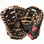 Rawlings PRODCTDCB Heart of the Hide 13 inch Dual Core First Base Mitt (Left Handed Throw) : Recommended for adult or elite player. Heart of the Hide soft leather shell. 30% player break-in. Tennessee Tanning pro lace. Deer-tanned cowhide lining. This Heart of the Hide Dual Core 1st Base baseball glove from Rawlings features the Single Post Web, which gives it a stretchable web and forms a snug secure pocket which allows the ball to stick and not bounce. This glove also features a Double Ca-Thug style which allows you to mold the end of the glove to scoop the ball. With its 13 pattern, this glove is designed only for the 1st base position. This new Heart of the Hide leather is tanned softer for that game ready feel with the durability and consistency remaining the same. The softness of the new leather allows for less break in time. This Series of gloves now features Dual Core Technology, which is position specific break points in the glove pattern.