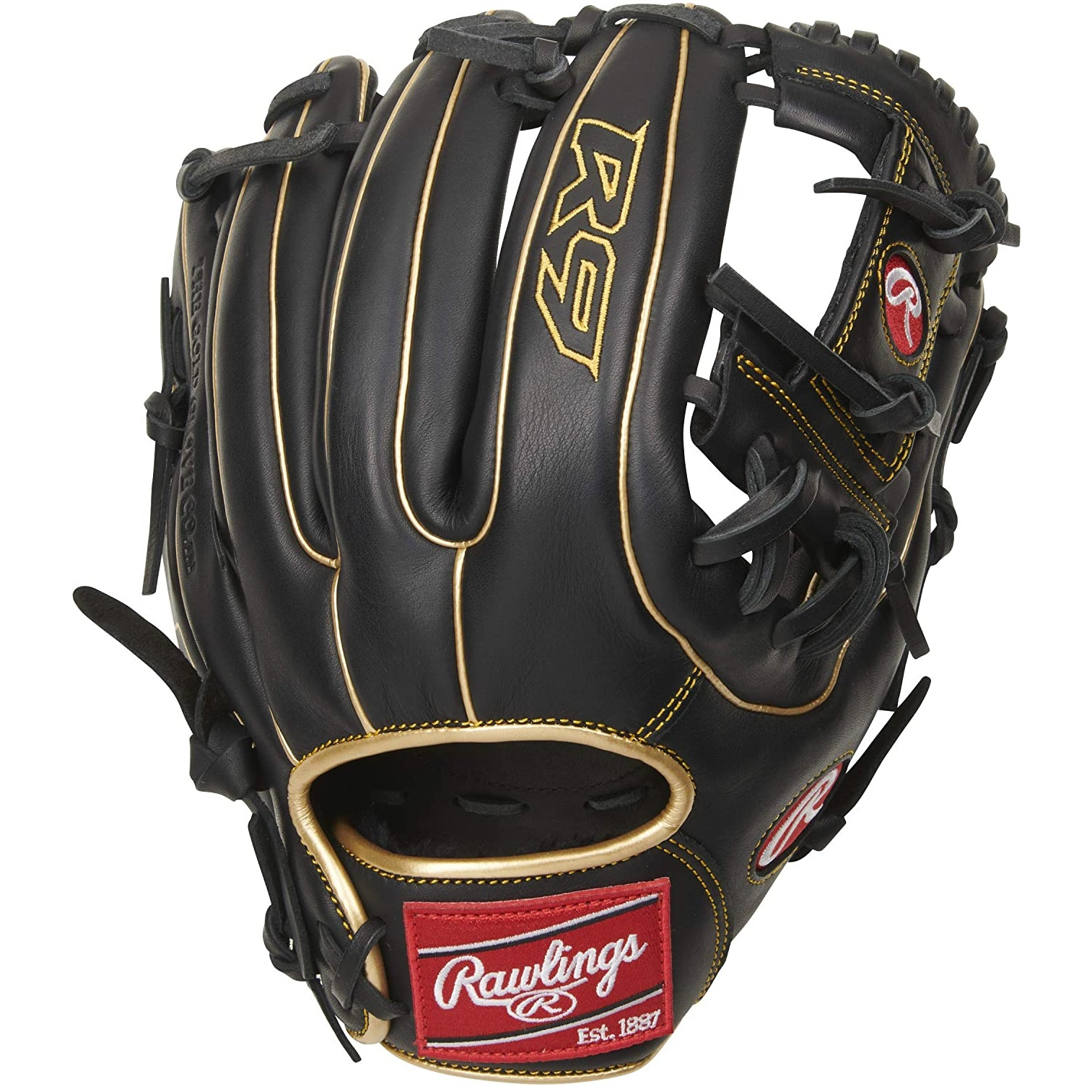 rawlings-r9-baseball-glove-11-5-i-web-right-hand-throw R9314-2BG-RightHandThrow  083321716485 Designed for infield players the r9 baseball glove has an 80%
