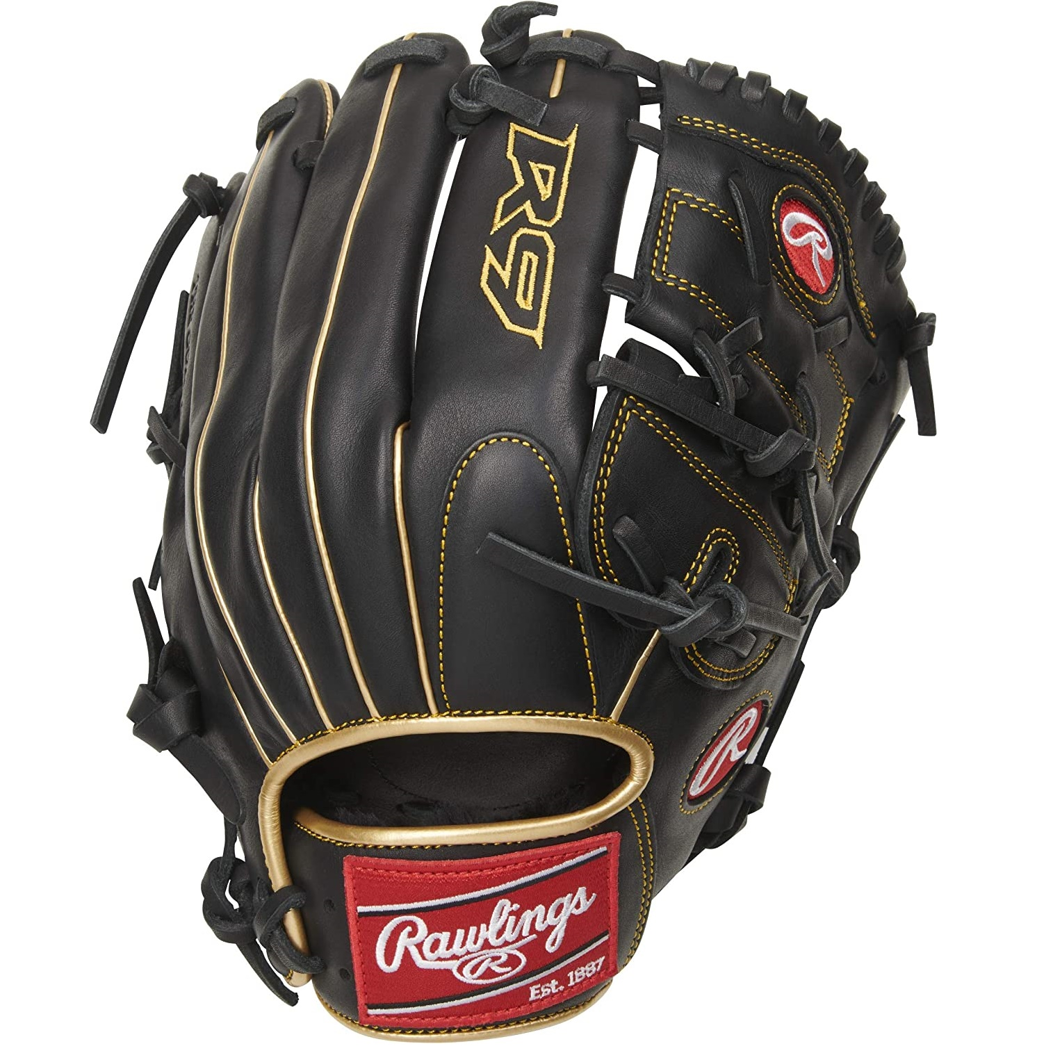 rawlings-r9-baseball-glove-12-inch-right-hand-throw R9206-9BG-RightHandThrow Rawlings  Gear up with the 2021 R9 Series 12-inch infield/pitchers glove. It