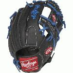 This series offers an exciting collection of a popular pro player designs to give aspiring big leaguers the same glove styling and features of their favorite stars. All of the models in this collection offer Rawlings Youth Pro Taper Fit which incorporates smaller hand openings and lowered finger stalls. This is a perfect solution for the transitioning athlete looking for a pro style model that fits their growing hand size. This is a Josh Donaldson Design Model. Details Age: Youth Brand: Rawlings Map: No Sport: Baseball Type: Baseball Size: 11.25 in Color: BlackRoyal Hand: Right Back: Conventional Player Break-In: 20 Fit: Youth Pro Taper Lace: Durable all leather Level: Youth Lining: Cushioned fingerback lining Padding: Palm and index finger padding for shock resistance Pattern: Baseball Position: Infield Series: Select Pro Lite Shell: Lightweight Leather Shell Type: Baseball Web: Pro I