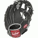 This series offers an exciting collection of a popular pro player designs to give aspiring big leaguers the same glove styling and features of their favorite stars. All of the models in this collection offer Rawlings Youth Pro Taper Fit which incorporates smaller hand openings and lowered finger stalls. This is a perfect solution for the transitioning athlete looking for a pro style model that fits their growing hand size. This is a Manny Machado Design Model. Details Age: Youth Brand: Rawlings Map: No Sport: Baseball Type: Baseball Size: 11.5 in Color: Black Hand: Right Back: Conventional Player Break-In: 20 Fit: Youth Pro Taper Lace: Durable all leather Level: Youth Lining: Cushioned fingerback lining Padding: Palm and index finger padding for shock resistance Pattern: Baseball Position: Infield Series: Select Pro Lite Shell: Lightweight Leather Shell Type: Baseball Web: V