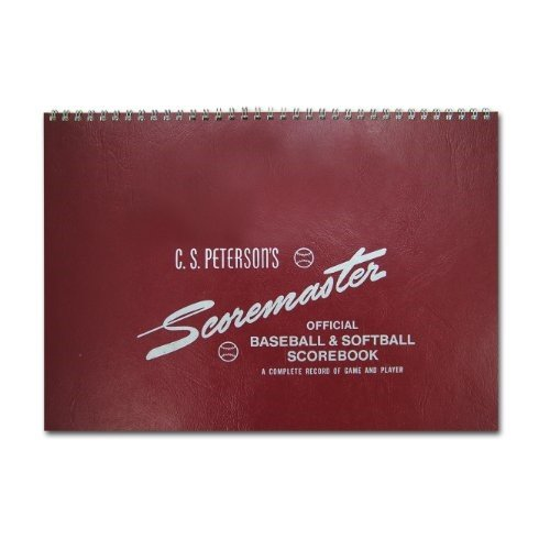 C.S. Peterson's Original Scoremaster Scorebook for baseball and softball. Includes instructions in front of book for the Scoremaster system of scoring. Includes 25 games with 12 innings and 11 players with substitue.