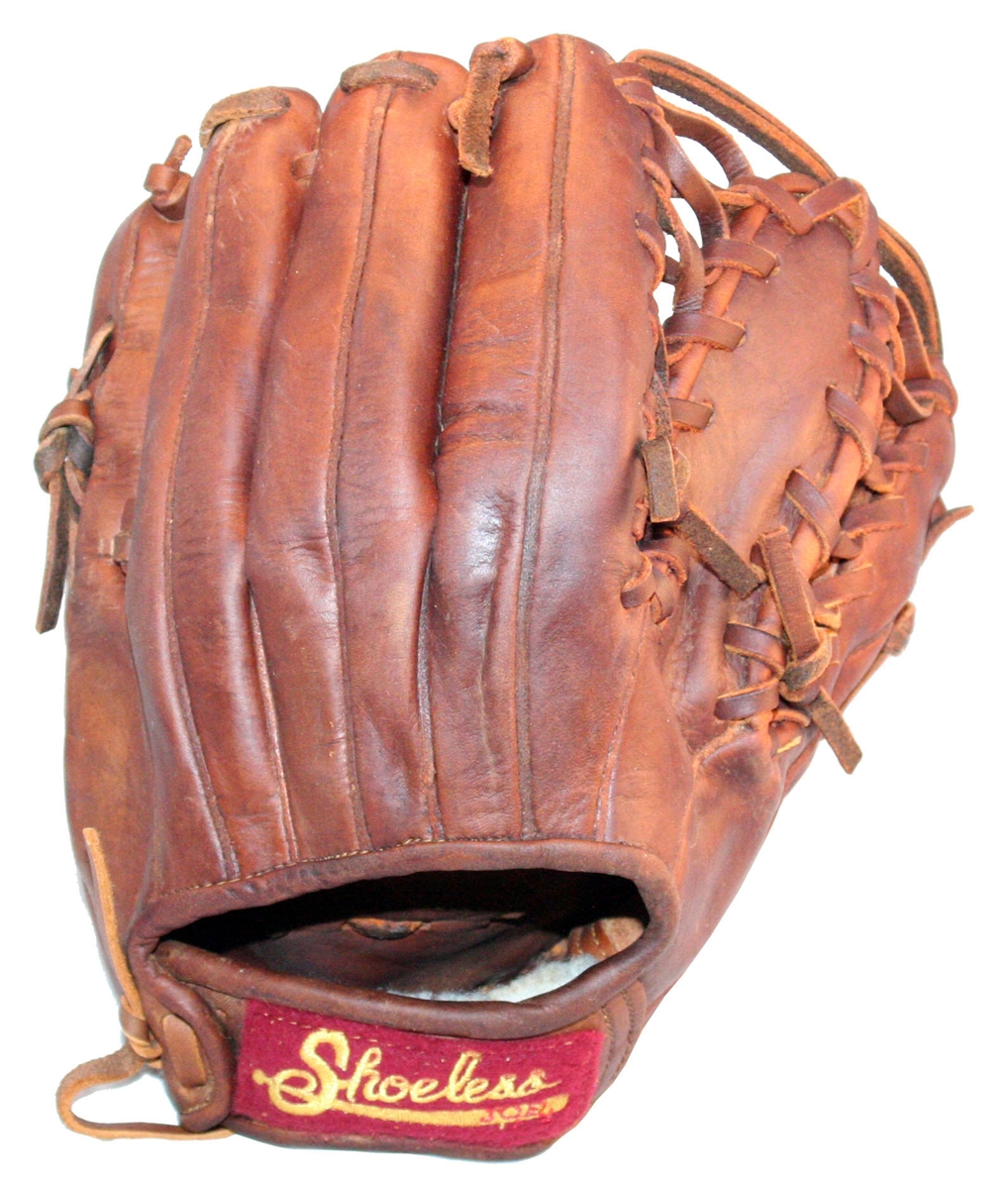 Shoeless Joe 11.5 Baseball Glove 1150SF (Right Hand Throw) : Shoeless Joe provides any infielders, especially a middle infielder, 4 Web choices in a 11 12 inch ball glove. Regardless if the player chooses the Modified Trap, Six Finger, I Web or H Web glove, it will feel like a true extension of the hand. These gloves are designed to let the player catch any fly or ground ball, and make a quick transition to the throwing hand. So that a player can quickly take their glove to the field, the Shoeless Joe11 12 gloves are made with 100% Tobacco tanned steer hide, and are hand laced and oiled and require very little break in time.