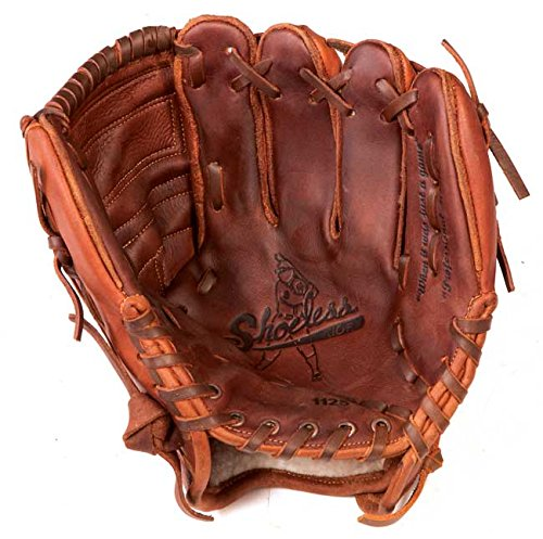 Shoeless Joe 1125CW Infield Baseball Glove 11.25 inch (Right Hand Throw) : The 1125 Closed Web baseball glove is an excellent infielders glove or can be used as a youth glove. Its small frame allows for a quick transfer to the throwing hand, but has adequate pocket area to receive a baseball. Like all Shoeless Joe gloves, they are made with 100% tobacco tanned steerhide, and all are hand laced and requires very little break in time.