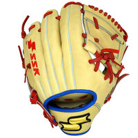 The SSK Ikigai Baez Blonde custom glove is the exact blonde color and feel of Baez's 2019 on-field glove. Made by Shokunin craftsmen, this Premium Japanese tanned steerhide leather glove is designed for elite levels of baseball play. referred Position Infielder Glove Web One Piece Glove Size 11.5 Throwing Hand Right Hand Leather Premium Japanese Tanned Steerhide Lacing Top Grain Leather Palm Premium Steerhide Lining Color Blonde, Red, Gold Logo And More Custom Glove Bag Included, Custom Product, Shokunin Craftsmanship