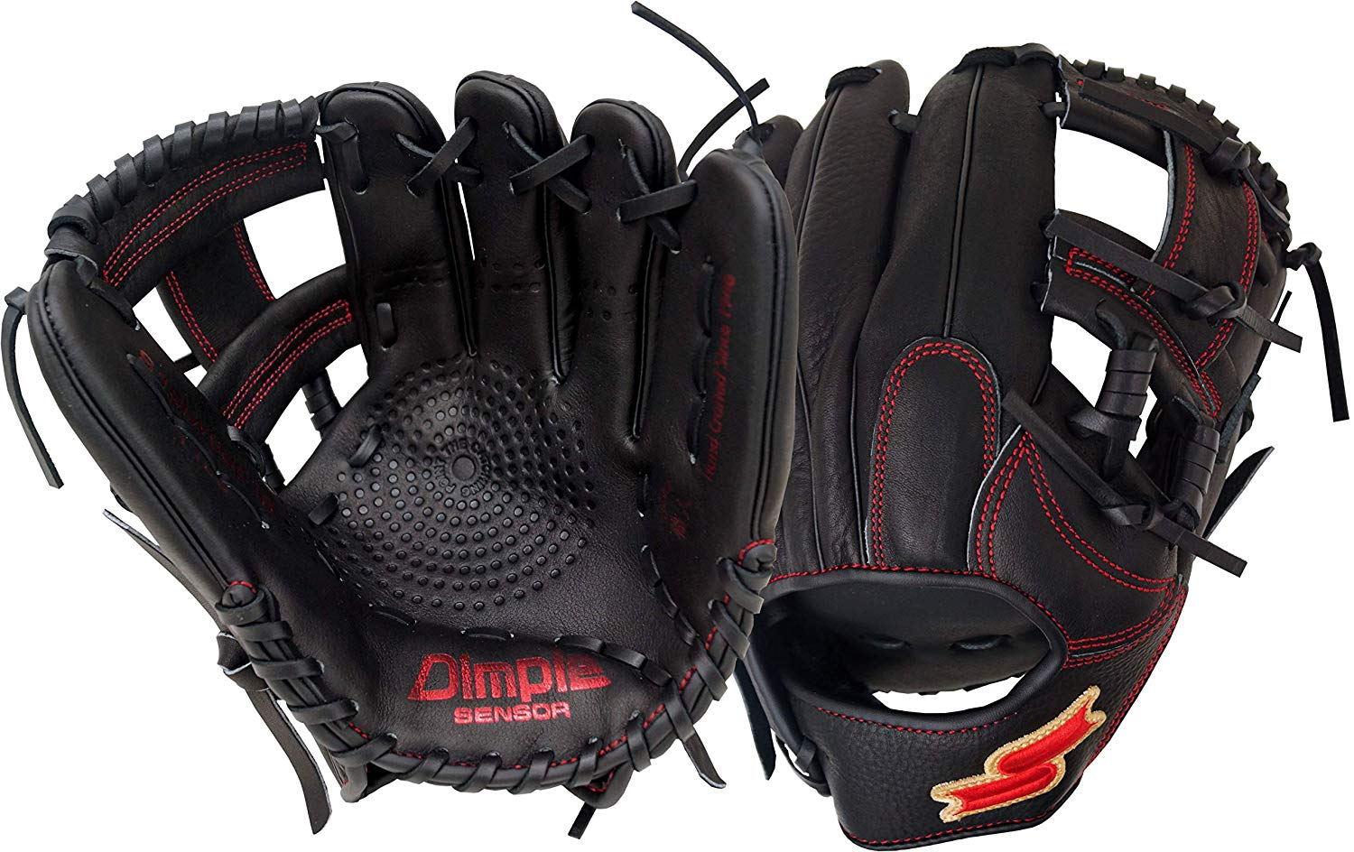 ssk-red-line-series-11-5-baseball-glove-right-hand-throw S19IW9901R-RightHandThrow SSK 083351452605 Crafted with top grain steerhide for exceptional durability Dimple Sensor Technology
