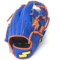 p11.50 Inch Baseball Glove Colorway: Blue | Orange Conventional Open Back Dimple Sensor Technology Infield Glove For Young Players./p