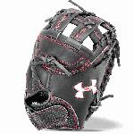 Introducing the UA Deception 33.5 fastpitch catcher s mitt designed for the serious fastpitch softball player. This Deception is made with high-quality leathers with a fast break-in time allowing you to get to work behind the plate. The wide and deep pocket thick heal and toe padding and the pth padding in the base of the hand all allow you to feel comfortable so your hands are ready to stop whatever comes your way. UA Deception FP 33.5 Catcher Mitt Features High Quality Leather Wide Deep Pocket Thick Heal Toe Padding PTH Padding in Base of the Hand Vertical Laces Between Web Pocket 33.5 Catcher Pattern H-Web One Year Manufacturer Warranty
