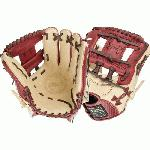 Cherry and cream design Right hand throw 11.5 inches infield model Pro-I web World-class palm lining enhances feel. Cherry and cream design Right hand throw 11.5 inches infield model Pro-I web World-class palm lining enhances feel Rolled leather welting for long lasting shape Japanese tanned steer hide High quality tanned lacing Professional patterns.