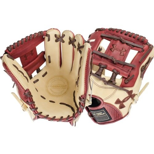 under-armour-genuine-pro-11-5-i-web-baseball-cherry-glove-right-hand-throw UAFGGP-1150IBCCR-RightHandThrow Under 029343046902 Cherry and cream design Right hand throw 11.5 inches infield model