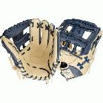 Navy and cream design Right hand throw 11.5 inches infield model Pro-I web World-class palm lining enhances feel. Navy and cream design Right hand throw 11.5 inches infield model Pro-I web World-class palm lining enhances feel Rolled leather welting for long lasting shape Japanese tanned steer hide High quality tanned lacing Professional patterns.