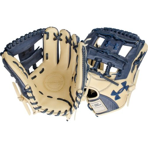 under-armour-genuine-pro-11-5-i-web-baseball-navy-glove-right-hand-throw UAFGGP-1150INACR-RightHandThrow Under 029343046940 Navy and cream design Right hand throw 11.5 inches infield model