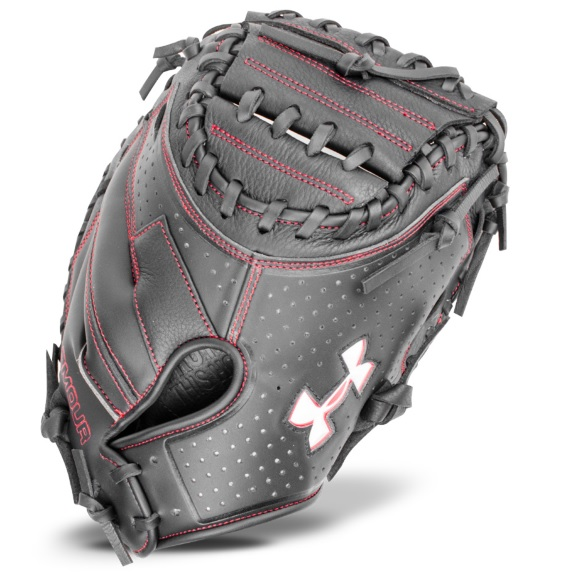under-armour-uacm-100-adult-catchers-mitt-33-5-inch UACM-100-RightHandedThrow Under 029343037368 The Framer series mitt features a blend of leather with a