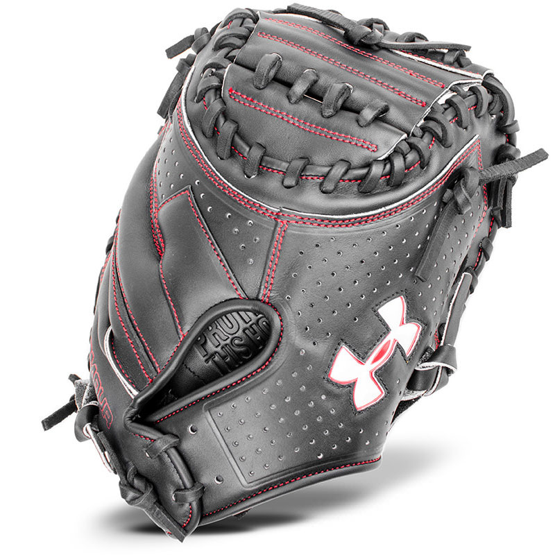 under-armour-uacm-200y-youth-catchers-mitt-31-5-right-hand-throw UACM-200Y-RightHandThrow Under 029343037399 31.5 Youth Catchers Glove Conventional Open Back. Wide Deep Pocket. Vertically