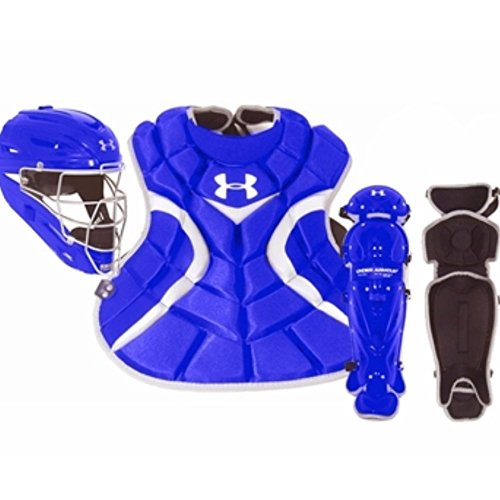 under-armour-youth-age-7-9-victory-series-catchers-set-royal UACK-YVS-Royal Under 029343023453 Pro Headgear I-Bar Vision increases vision and cage strength. Pro Headgear