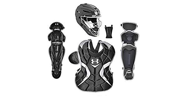 under-armour-youth-pth-victory-catchers-set-black-age-9-to-12 UACK-YVS-BK Under 029343001178 Includes Catching Helmet Chest Protector & Leg Guards Recommended Age Group