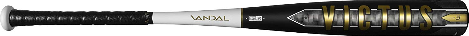victus-vandal-bbcor-3-baseball-bat-31-inch-28-oz VCBV-3128  840078701726 One-piece aluminum hybrid design built with a carbon composite barrel-end taking