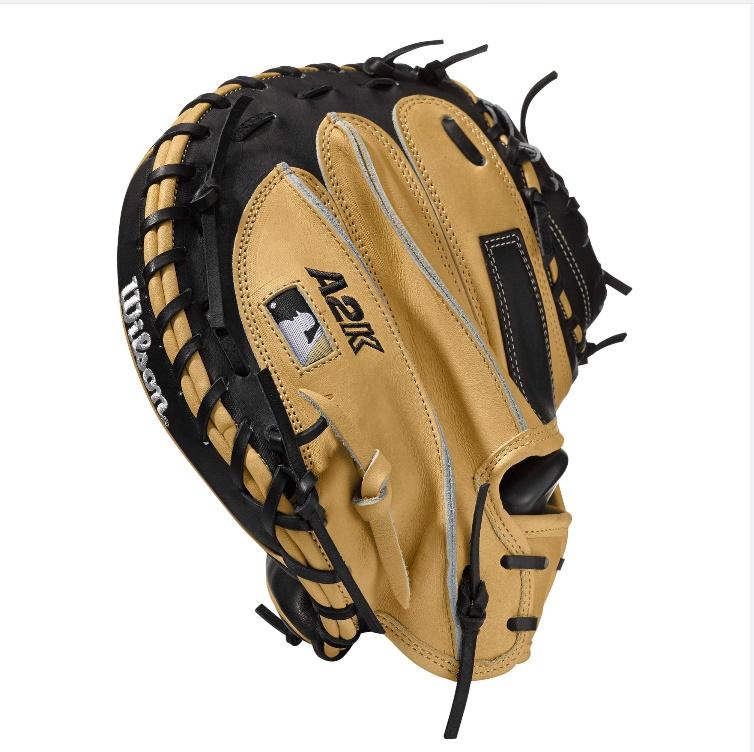 wilson-2017-a2k-m1-baseball-catchers-glove-blondeblack-32-5inch-right-hand-throw A2KRB17M1-RightHandThrow Wilson 887768499266 A2K M1 - 33.5 Wilson A2K M1 Catchers Baseball GloveA2K M1