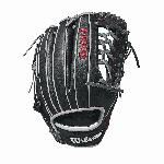 The 11.5 Wilson A1000 glove is made with a Pro laced T-Web and comes in left- and right-hand throw. It's the right choice for utility players all over the diamond looking to make a splash. Wilson new A1000 line of ball gloves is built with Pro stock patterns you see in Major League stadiums everywhere, in a soft, but sturdy leather that's ready for game play right away. These A1000 models are made of hand-designed patterns from the Wilson Baseball team, optimized for quicker break-in so you can take the field with it right away.