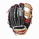 11.75 Cross web with Baseball stitch New pattern featuring gap welting Black, blonde and Red Pro Stock leather, preferred for its rugged durability and unmatched feel Dual welting for a durable pocket and long-lasting break-in