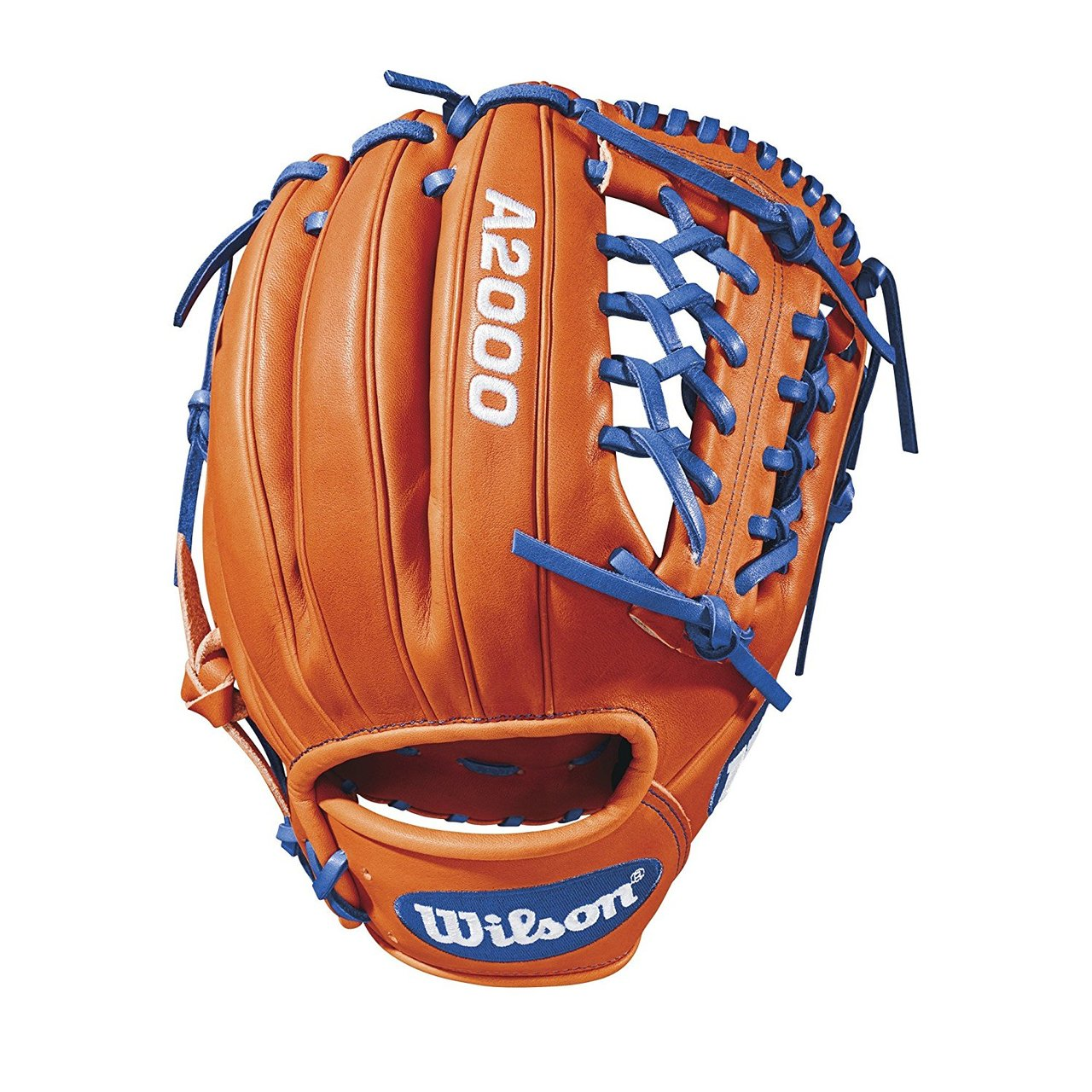 Own the diamond with the new A2000® 1789. With its 11.5 size and Pro Laced T-Web, this glove is perfect for infielders who also pitch. For infielders, its snug Fit™ allows the glove to feel like an extension of their hand, giving little wasted movement. As for pitchers, the T-Web conceals a pitcher's grip from hitters. With a flashy Orange Tan and Royal Pro Stock Leather design, this glove gives you everything you need to conquer the field.  The Wilson A2000®, the most famous baseball glove in the game, continues to improve. Master Craftsman Shigeaki Aso and his glove team are constantly refining Pro Stock patterns with the insights of players from back fields to Major League stadiums to bring the best possible product to the diamond. Made with Pro Stock leather identified specifically for Wilson gloves for its durability and unmatched feel, A2000®s are built to break in perfectly and last for multiple seasons. It's the perfect ball glove for hard-working players.