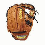 Wilson's innovative Pedroia Fit was initially created for the DP15, giving Dustin Pedroia and other players with smaller hands a glove that fits their game. Smaller and opening, narrower finger stalls, and the same quality and craftsmanship as all other A2000 gloves. Pro Stock leather and rolled dual welting provides a quicker break-in that doesn't break down. - 11.5 Inch Model - Pedroia Fit for Smaller Hands - Pro Stock Leather - Rolled Dual Welting - Orange Tan - Pro Pattern