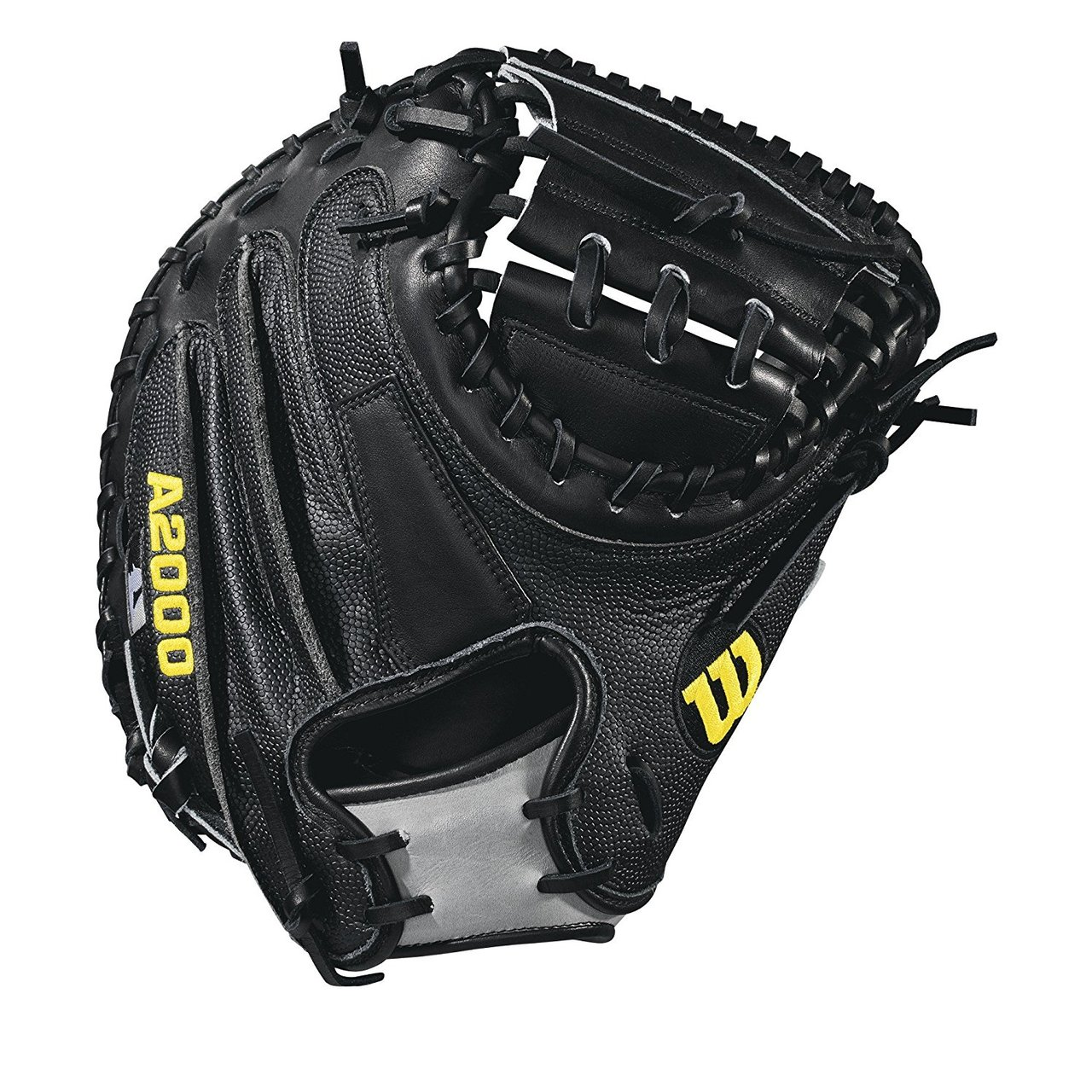 wilson-2018-a2000-m2-ss-catchers-mitt-right-hand-throw-33-5 WTA20RB18M2SS-RightHandThrow Wilson 887768614584 33.5 catcher model half moon web Thumb Protector Black SuperSkin --