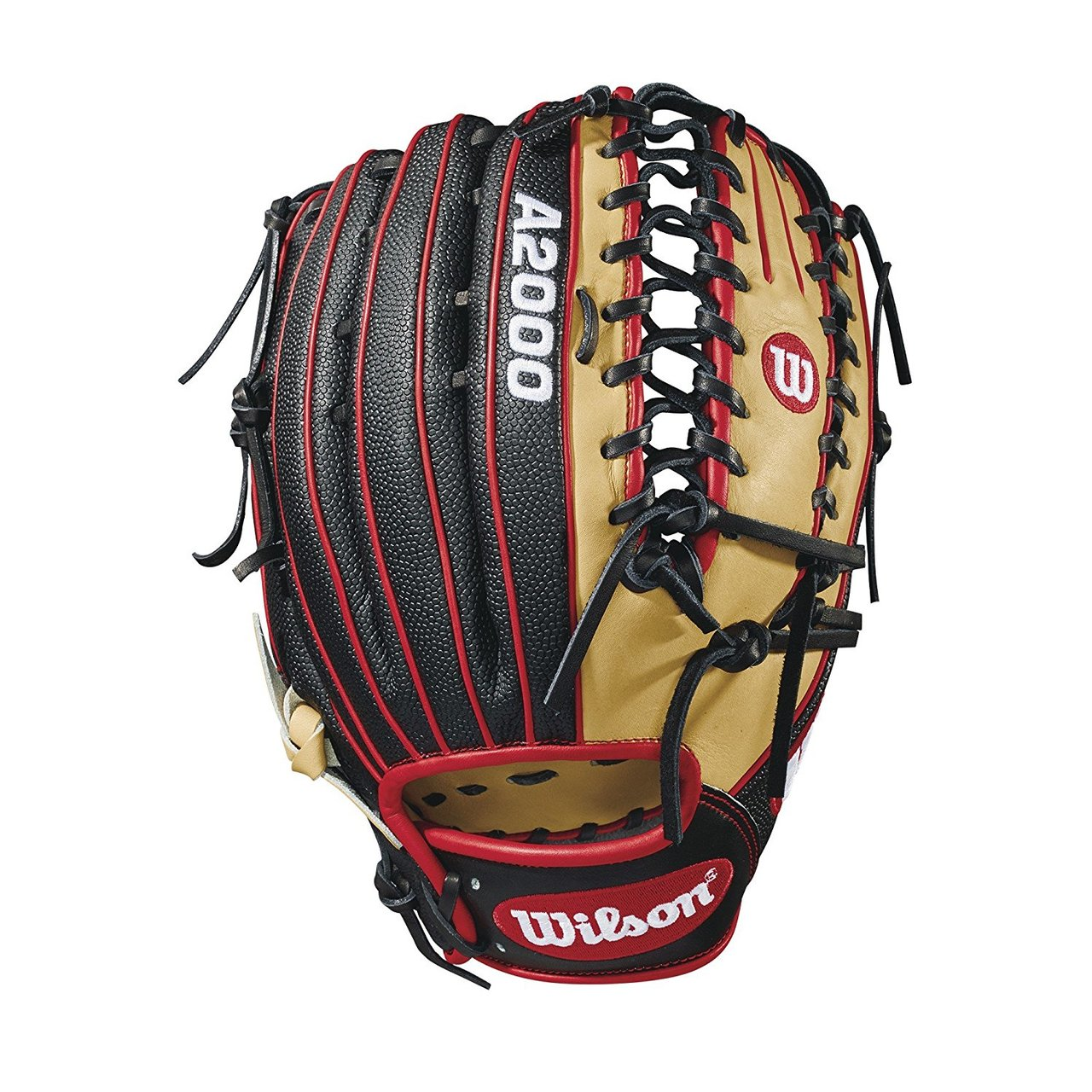 wilson-2018-a2000-ot6-ss-outfield-baseball-glove-right-hand-throw-12-75 WTA20RB18OT6SS-RightHandThrow Wilson 887768614638 12.75 outfield model 6 finger trap web Black SuperSkin -- twice