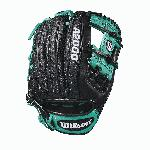 Robinson Cano's A2000 RC22 GM, has long been one of Wilson's most popular Super Skin gloves. Robbie loves Super Skin -- it's half the weight of regular leather, and twice as strong. It'll stay light even if the fields get wet. The A2000 Super Skin gloves are the utility players of the Wilson lineup. A versatile mix of Pro Stock leather and man-made Super Skin makes the glove stronger, lighter and easier to break in than the all-leather A2000s. - 11.5 Inch Model - H-Web - Game Model for Robinson Cano - Black Super Skin - Mariner Green Pro Stock Leather - Dual Welting !-- Used to set table width because AUI is overriding the width attribute of the tables coming in description --